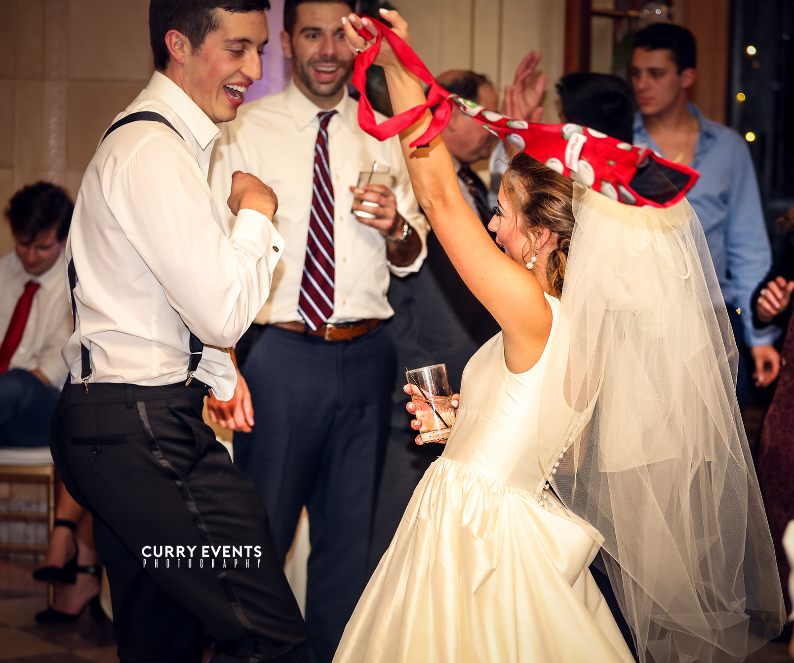 Curry Events- Bride and Groom on the Dancefloor - Aldrich Mansion
